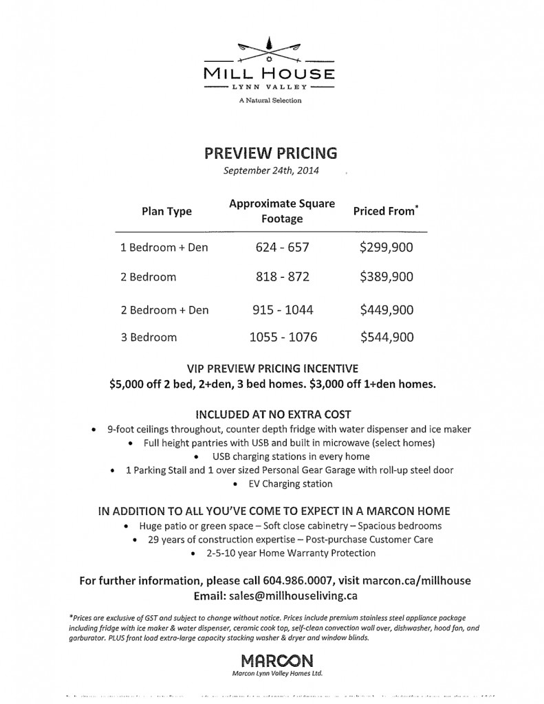Pricing Sept 2014