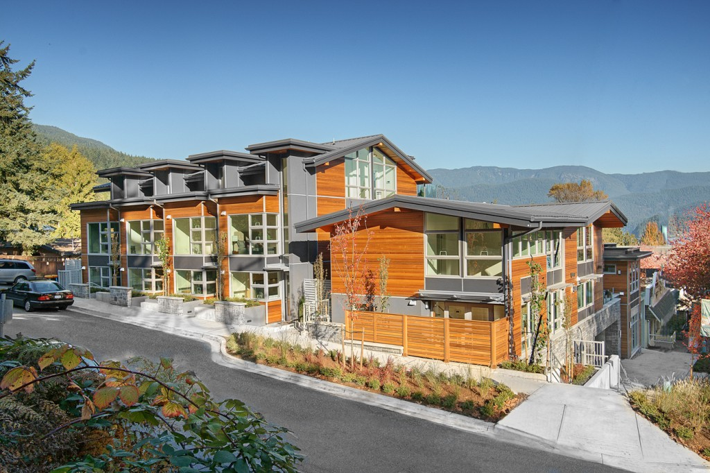 Recently completed and sold out Cove Garden townhomes.