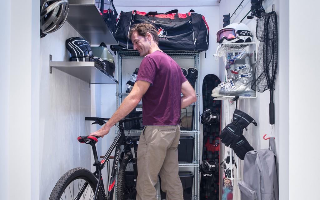 The Personal Gear Garage at Mill House in Lynn Valley is perfect for storing all your stuff.